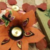 Fall Felt Flower Bowls