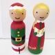 North Pole Peg Dolls